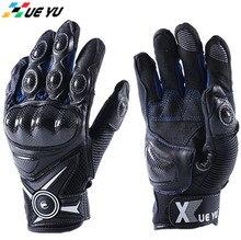 цена на XUEYU Motorcycle Gloves Carbon Fiber Knuckle Street Motocross Gloves Bike Luvas Motorbike Road Riding Guantes Protective Gear