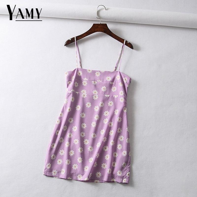 Vintage floral kirsche druck chiffon kleid frauen strand kleid Sexy spaghetti strap backless mini kleid koreanische beiläufige kleid vestido
