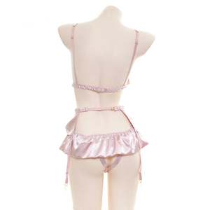 Image 3 - ผู้หญิงBowknotบิกินี่ชุดนอนชุดญี่ปุ่นKawaiiอะนิเมะชุดชั้นในเปิดกางเกงCrotchless Garter Seduciveชุดชั้นในชุด
