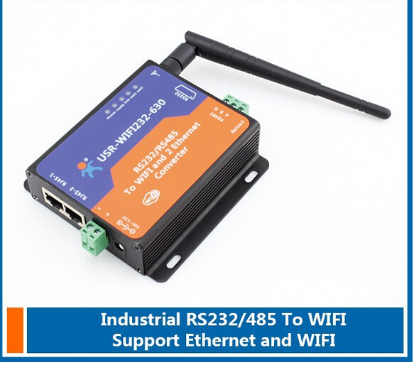ФОТО Serial RS232/ RS485 to Wifi Server with 2 Channel RJ45 for bidirectional transmission between serial RS232/485 and WIFI