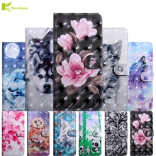 3D Flip Leather Etui on For Coque Sony Xperia L1 Case Experia E6 G3311 G3312 5.5 Fashion Cartoon Wallet Cover