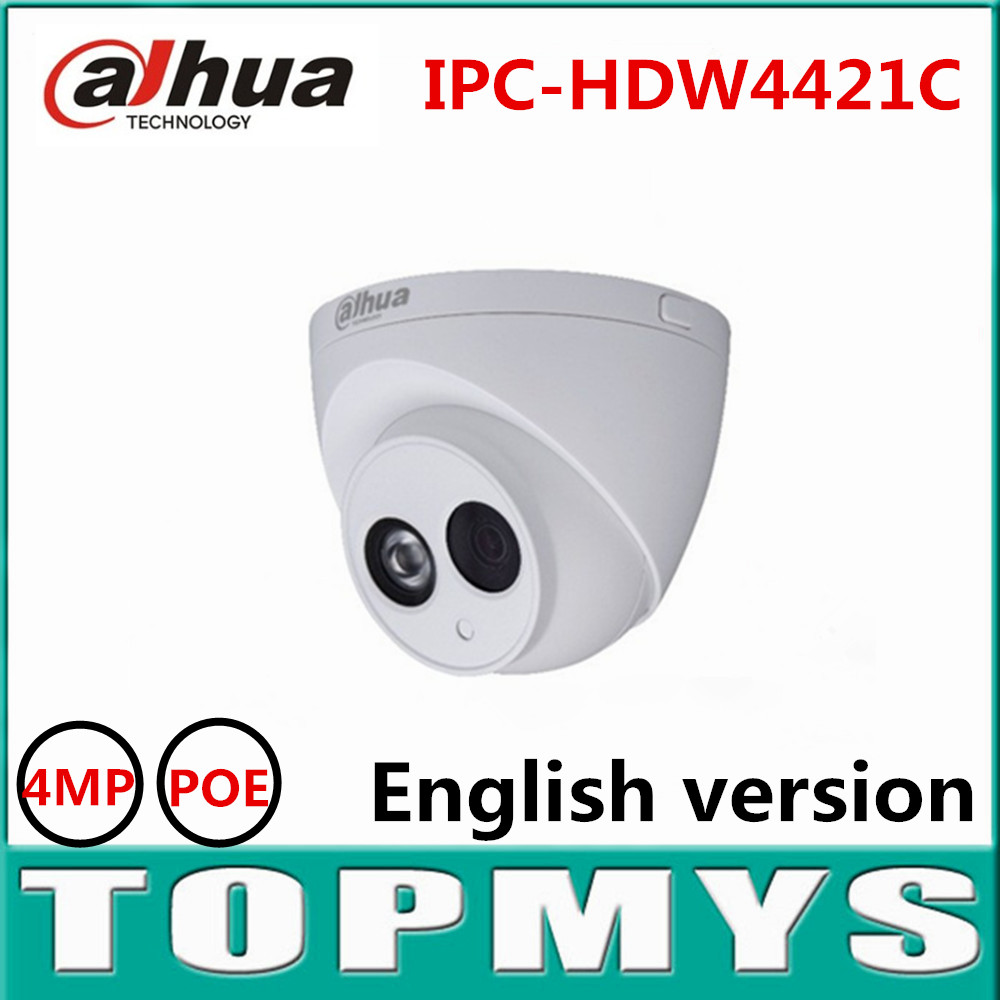 DaHua IP font b Camera b font IPC HDW4421C 4MP POE 1080P HD Dome IP font