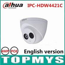 Cámara IP DaHua IPC-HDW4421C 4MP POE 1080 P HD IP de la Bóveda Día y Noche la cámara de infrarrojos de seguridad CCTV cámara ip A Prueba de agua IP67 onvif