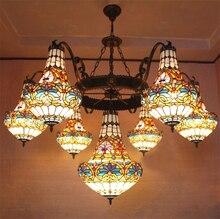 Europischen Vintage Glas Grosse Pendelleuchte Knstlerische Tiffany Bar Cafe Lampe Esszimmer 150 Cm 23