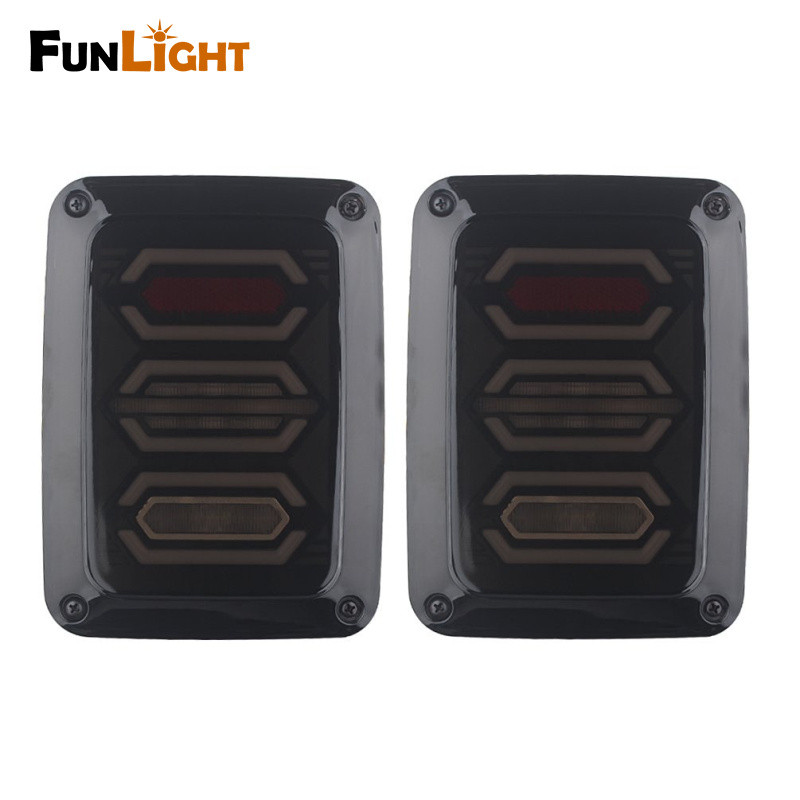 USA/EU Edition reverser brake turn signal LED rear tail light For Jeep wrangler LED Tail Light With Brake Turning Reverse light free shipping 47 120mm running brake reverse signal led tailgate tail light bar strip truck suv