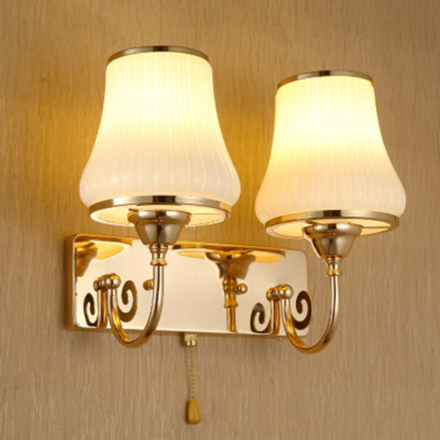 HGhomeart Simple Rustic Wall Sconces Wall Light Reading Lamps Wall Mounted  110V 220V E27 Crystal
