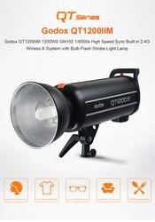Godox QT1200II QT1200IIM 1200WS GN102 1/8000s High Speed Sync Built in 2.4G Wirless X System with Bulb Flash Strobe LightCD15A04