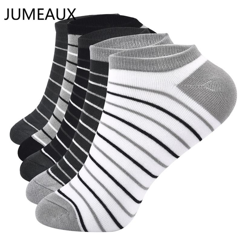 JUMEAUX Breathable Bamboo Charcoal Fiber   Socks   Men's Stripe Invisible Ankle   Socks   Deodorant Cotton Short   Socks   Cool Meias   Socks