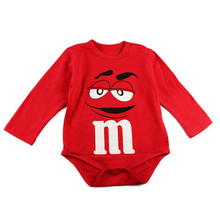 Summer Newborn Baby Clothes Boy Girl Kids Cotton chocolate M&M Bodysuit Funny Cute Kawaii Outfits Infant Short sleeve Daddy gift