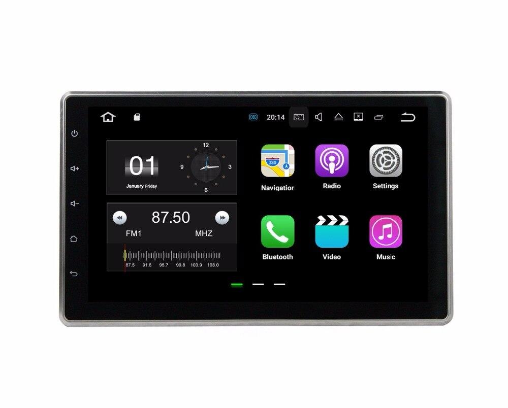 Quad Core 2 din 10 1 Universal Android 7 1 font b Car b font Radio