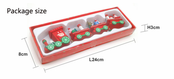new Christmas train painted wood with Santa/bear Xmas kid toys gift ornament navidad Christmas Decoration for home new year gift 5