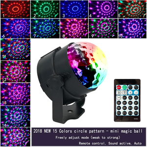 Image 4 - ALIEN 4W 15 Colors Sound Activated Crystal Magic Ball RGB LED Stage Lighting Effect Party DJ Disco Lamp With Remote Controller