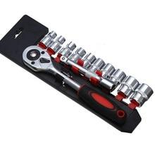 chromium-vanadium steel 12pcs 1/2ratchet socket wrench set  Auto Repair Tool set  free shipping