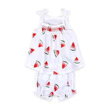 2018 Summer Baby Girls Clothing Sets Baby Sets Kids Clothes Newborn Baby Girls Strap Clothes Set Kids Tops + Shorts Set DS26 cheap Children Vest Square Collar Polyester COTTON Sleeveless rorychen REGULAR Fits true to size take your normal size Print