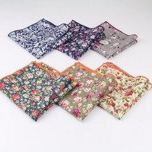 Стиль платок шарфы винтажные хлопчатобумажные носовые платки мужские карманные квадратные носовые платки с розами Пейсли