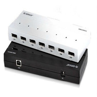 H727RK U3 BK ABS 7 Ports 3.0 with 12V Power Adapter US/EU/AU/UK Plug , support nemo and tems testing drive device