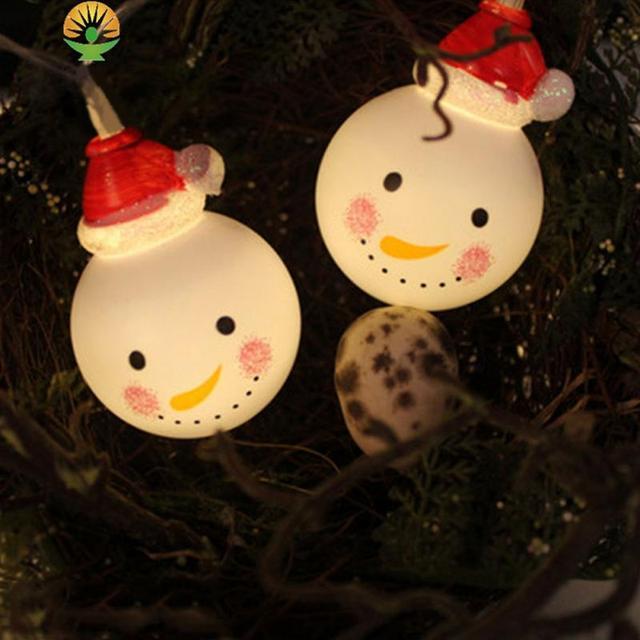 christmas decor string lights backyard patio lights christmas snowman bulbs ornament outdoor wedding xmas tree hanging