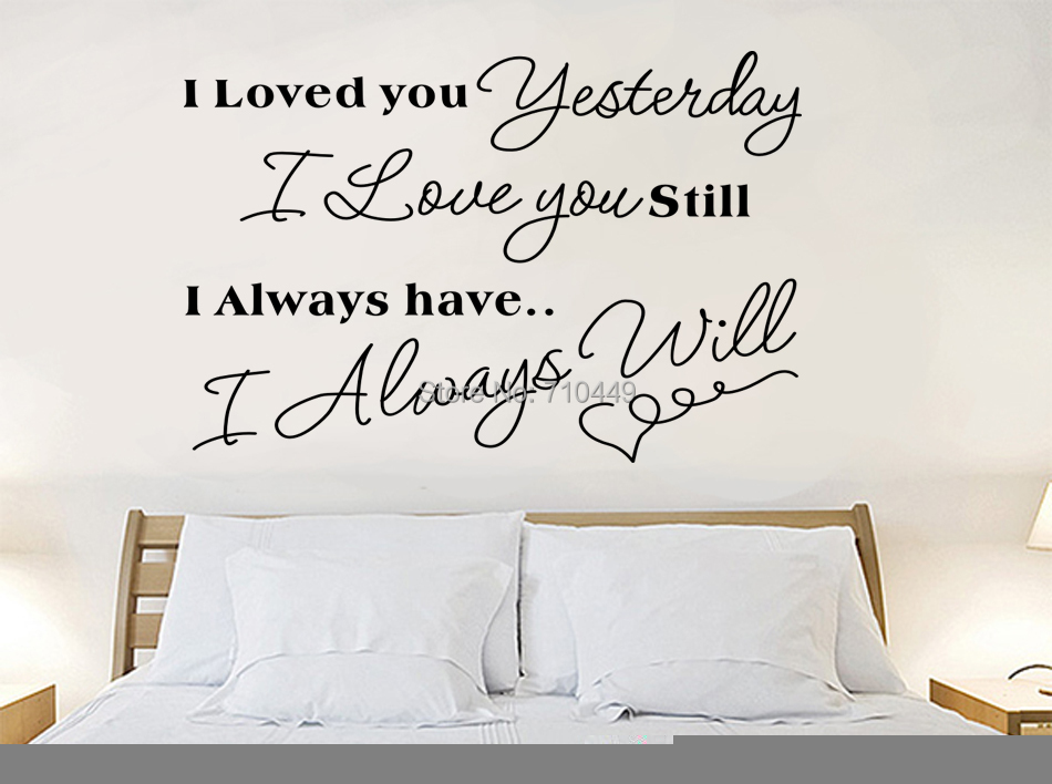 Free shipping vinyl Love English quote wall sticker  room decoration wall decal