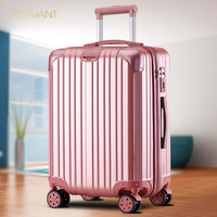 Luggage gift custom trolley case universal wheel waterproof suitcase boarding case air box spinner luggage hard shell