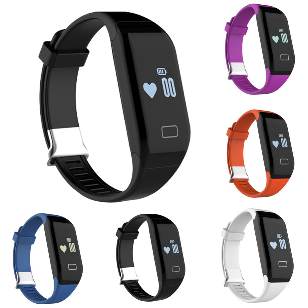 New Black H3 Bluetooth 4.0 Smart Wristband Pedometer Heart Rate Sleeping Monitor Bracelet Touch Smartwatch Smartband OD#S