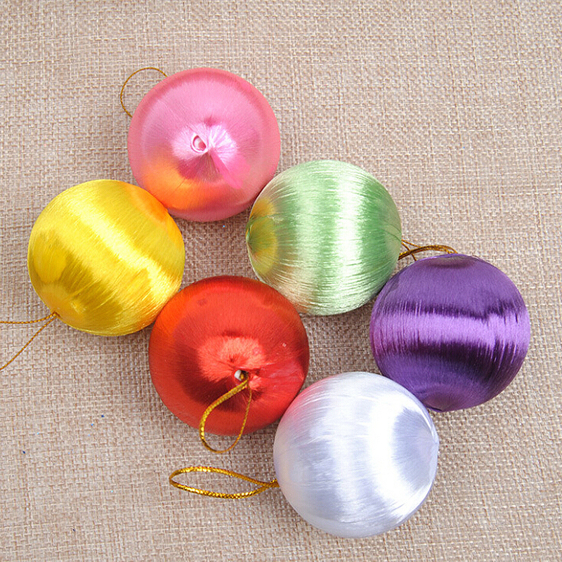30 Pcs Color Silk Ball Christmas Tree Decor Hanging Ball Ornament Ball Bauble Xmas Party Decorations Home Christmas Decor Gift in Party DIY Decorations from Home Garden