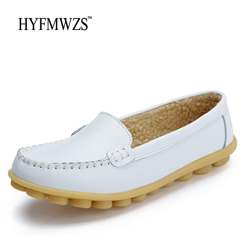 HYFMWZS Plus Size 35-41 Warm Winter Women Shoes Woman Non-slip With Fur Mother Shoes For Women High Quality Fashion Peas Shoes big yards for women s shoes in the fall and winter of 2016 high thickening bottom anti slip with warm confined new fashion shoes