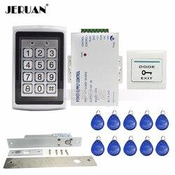 Darmowa wysyłka nowy klawiatura RFID Metal RFID systemu kontroli dostępu do drzwi + elektryczny zamek rygielkowy + moc hurtownie|power door lock|lock bumping bump keyspower cord lock -