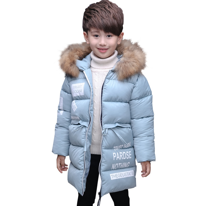 2017 New Jackets Boys Winter Thick Coat Cotton Padded Fur Collars Hooded Kids Jacket for Boys Clothes Children Clothing Parkas children winter coats jacket baby boys warm outerwear thickening outdoors kids snow proof coat parkas cotton padded clothes