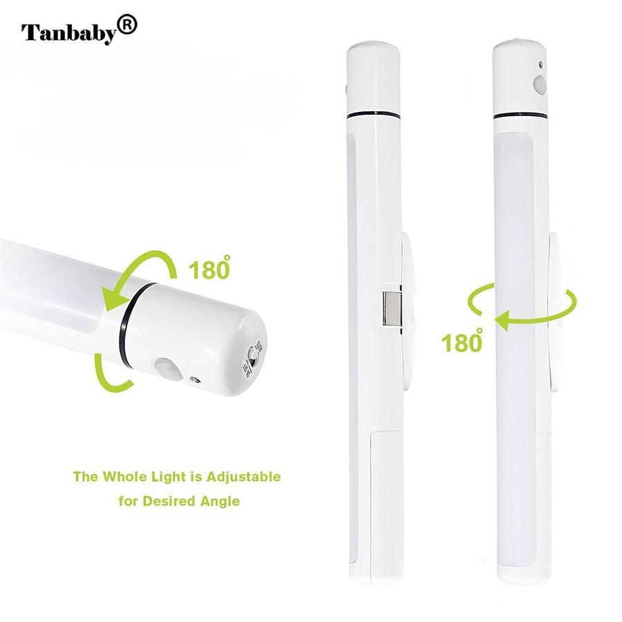 Luzes da Noite portátil alimentado por bateria ajustável Emiiting Color : White/warmwhite