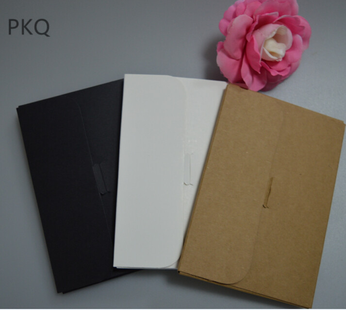 15 5 10 7 0 9cm Black White Brown Kraft Paper Envelope Postcards Greeting Card Photo