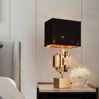 Diodo emissor de luz e27 nordic ferro tecido dourado preto lâmpada led. diodo emissor de luz. luz da mesa. candeeiro de mesa. lâmpada de mesa led para o quarto foyer|table lamp|table light|desk lamp for bedroom -