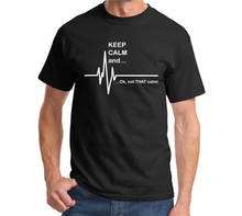 цена на Plain T Shirts Crew Neck Men Short-Sleeve Tall Keep Calm And Heart Rate T Shirt