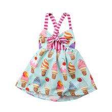 e169889cca Sin mangas lindo niño niños niñas correa del helado vestido Sundress verano  ropa