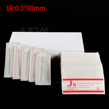 500Pcs Permanent Makeup Needle Disposable Sterilized 1R  For Permanent Tattoo Eyebrow and Lip Munsu Makeup Machine 0.3mm*60mm