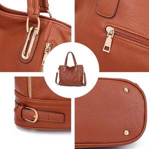 Image 5 - 2020 New Leather Womens Handbag Luxury Women Shoulder Bags Designer Female Crossbody Messenger Bag Lady