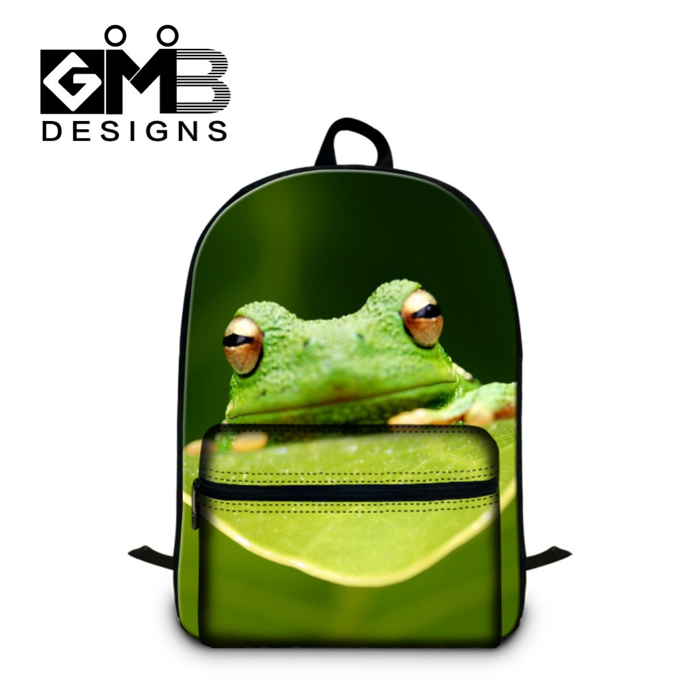 Lovely Polypedatid 3D Pattern School Backpacks for Children,College Cool book bags day pack,Fashion laptop backpacking for girls