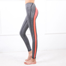 Hot sale women sports tights fitness running yoga pants stripe sposrts wear Female Exercise Leggings Sport Trousers
