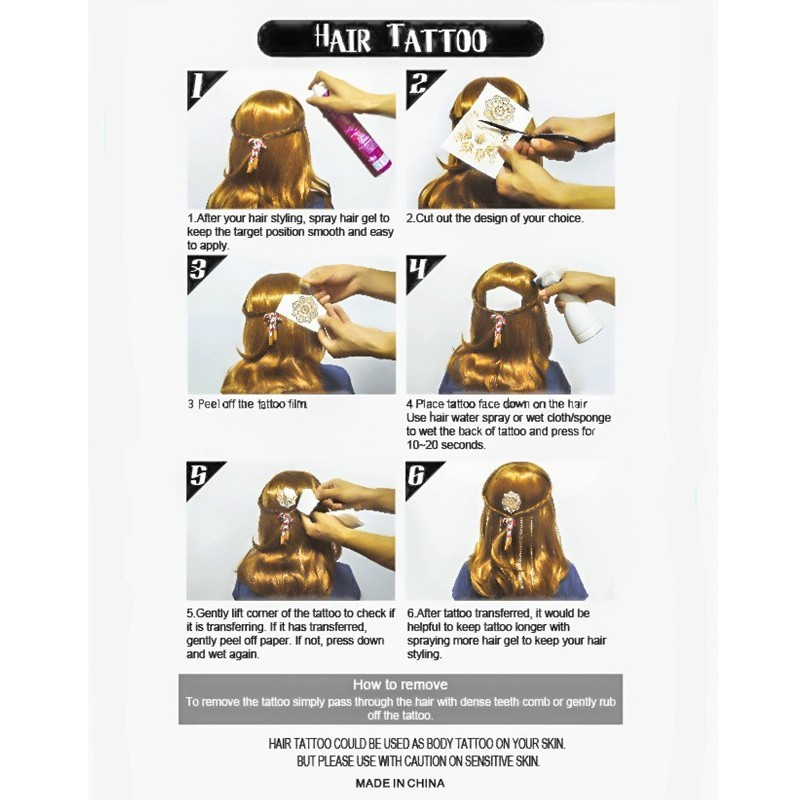 Th903 Hot Flash Leaves Bracelet Gold Metallic Tatoo Temporary Sexy Women Hair Wrist Body Art Jewelry Tattoo Stickers Design