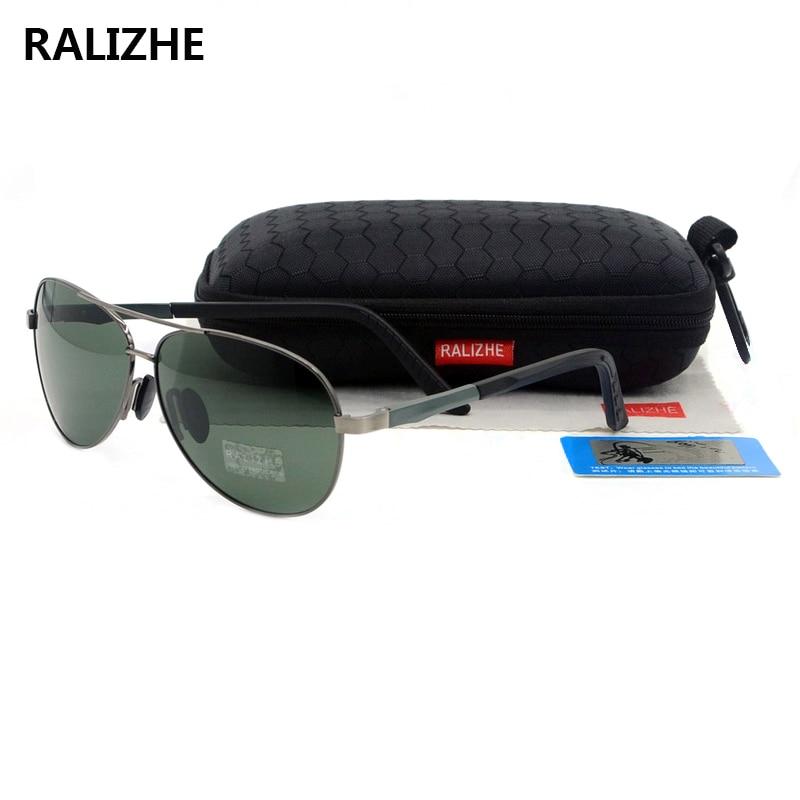RALIZHE 2019 New Arrivals Men Male Metal Classic Polarized Sunglasses Goggles UV400 Luxury Designer Sun Glasses Driving Eyewear