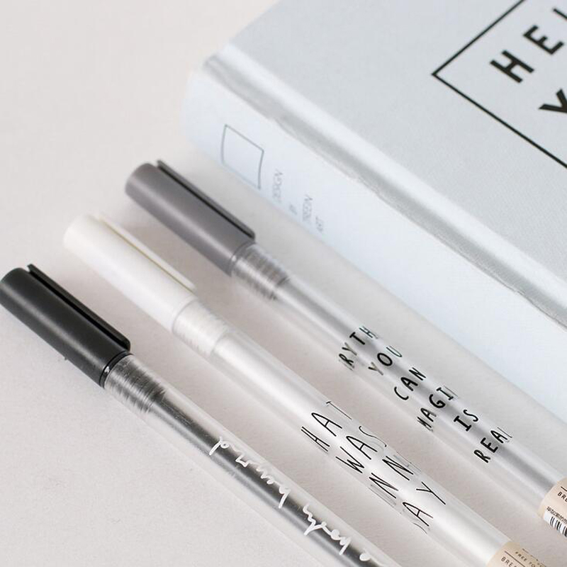 G37 3X Simple Basic Letter Printed Gel Pen Writing Signing Pen Stationery School Office Supply Kid Gift Student Stationery