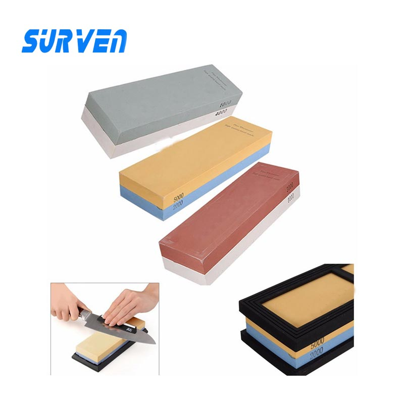 SURVEN Official Store Dual Whetstone 2000/5000# 3000/8000# 1000/4000# Sharpener Knife Sharpen Oilstone Grinding Stone Grit Sharpening Water Stone