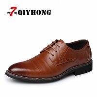 Business Men S Basic Flat Super Fiber Leather Gentle Wedding Dress Shoes Luxury Brand Formal Wearing