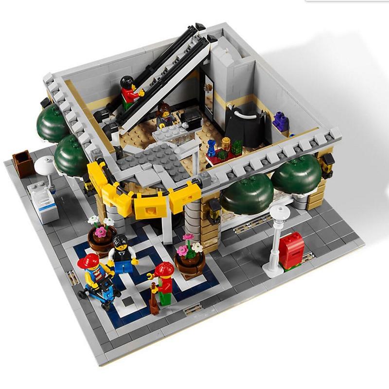 DHL 15005 City Building ของเล่นเข้ากันได้กับ 10211 Emporium Grand Building Blocks ชุดอิฐชุดของเล่นเช่นของขวัญเด็ก-ใน บล็อก จาก ของเล่นและงานอดิเรก บน   2