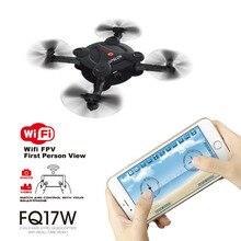 Upslon 2017 FQ777 FQ17W Mini Pocket Wifi 0.3MP Cámara FPV Quadcopter Drone 2.4G RC Helicóptero Plegable Control Remoto BNF RTF