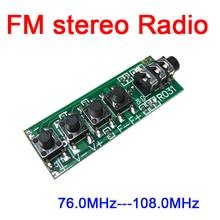 DYKB module de radio FM stéréo double canal cc 3v 12v module récepteur FM 76.0MHz  108.0MHz sensibilité: 1.3uV pour Radio jambon