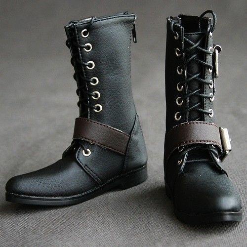 [wamami] 19# Black 1/3 SD DZ AOD DOD BJD Dollfie Synthetic Leather Boots/Shoes~9cm [wamami] 14 pink 1 6 sd dod aod bjd dollfie leather outfit shoes 4 5cm