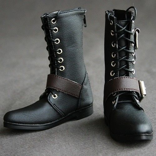 [wamami] 19# Black 1/3 SD DZ AOD DOD BJD Dollfie Synthetic Leather Boots/Shoes~9cm