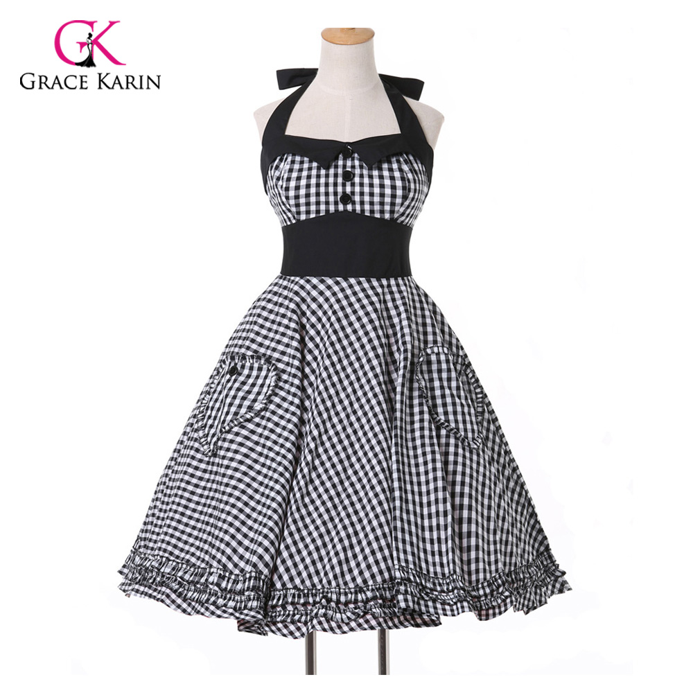 Robe de Cocktail Dress 2018 New Summer style Plus Size Retro 50s Pin ...