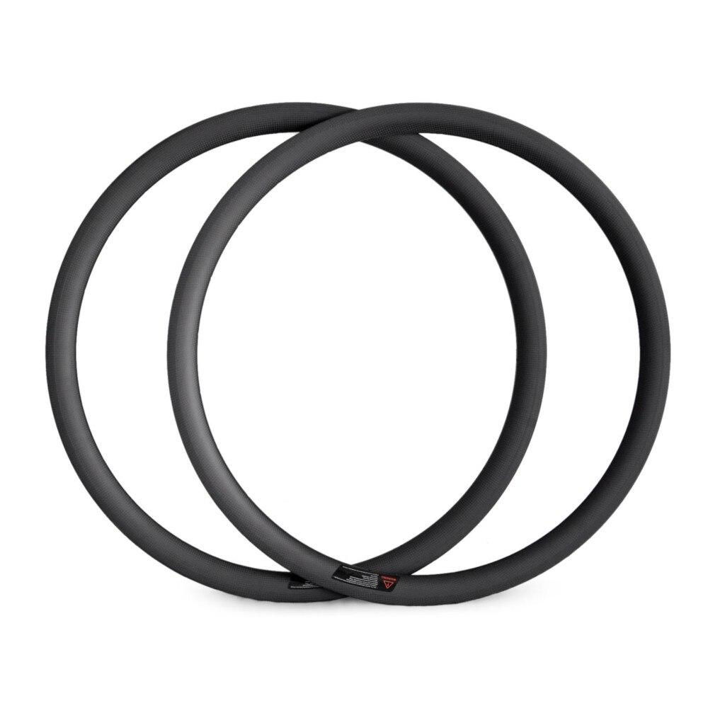 OEM fibre de Carbone Vélo De Route Jantes 700C Personnalisé Vélo Jantes Pneu Tubulaire Tubeless pour Carbone Vélo De Route Essieux