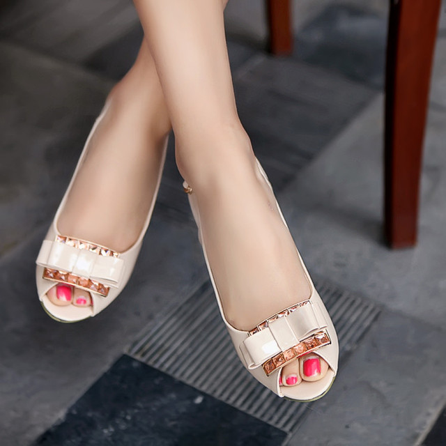 2018 Women High Heel Sandals Sexy Rhinestone Bow Thick Heel Shoes Female All Match Cool Shoes Small Big Size 32 43 Women's Shoes